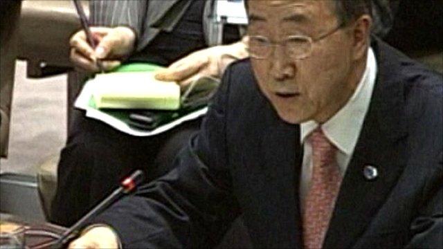 United Nations Secretary General Ban Ki-moon