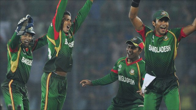 Bangladesh cricket team celebrate