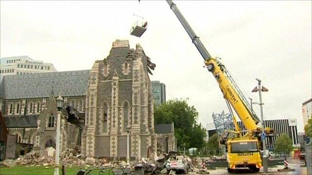 A damaged church