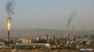 The Baiji refinery before the attack (image from January 2009)