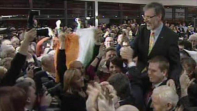 Sinn Fein celebrate