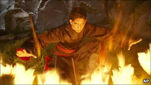 Dev Patel as Prince Zuko in a scene from The Last Airbender