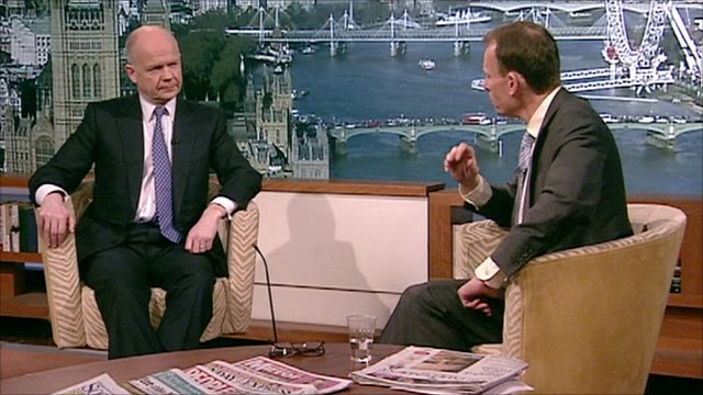 William Hague interviewed on The Andrew Marr Show