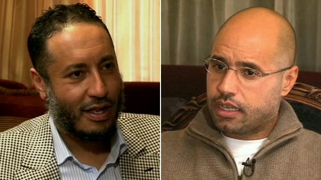 Gaddafi's sons Saadi al-Gaddafi and Saif al-islam