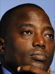 DR Congo President Joseph Kabila (file photo, 24 October 2010)