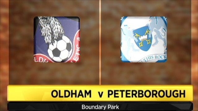 Highlights - Oldham 0-5 Peterborough