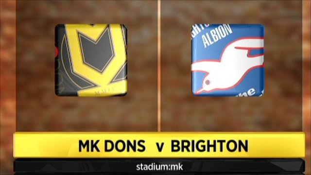 Highlights - MK Dons 1-0 Brighton