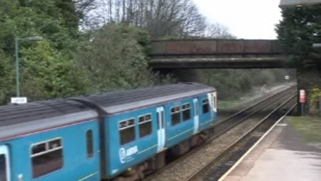 Train on south Wales line