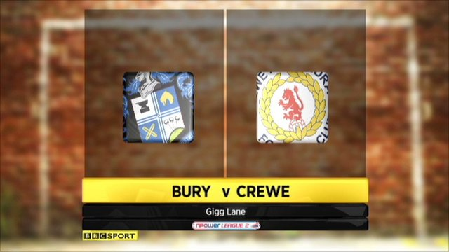 Highlights - Bury 3-2 Crewe