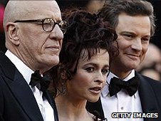 Geoffrey Rush, Helena Bonham Carter and Colin Firth