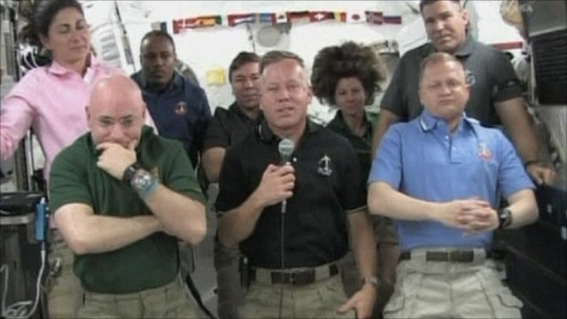 Space shuttle Discovery crew