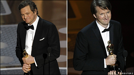 Colin Firth (left) and Tom Hooper