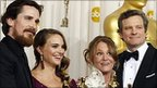 (From left to right) Christian Bale, Natalie Portman, Melissa Leo and Colin Firth