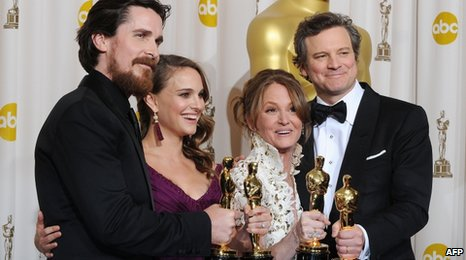 Christian Bale, Natalie Portman, Melissa Leo and Colin Firth