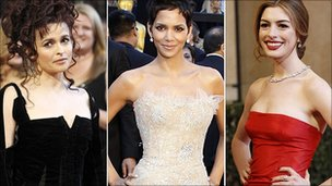Helena Bonham Carter, Halle Berry and Anne Hathaway