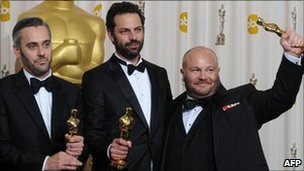 King&#039;s Speech producers Emile Sherman, Gareth Unwin and Iain Canning