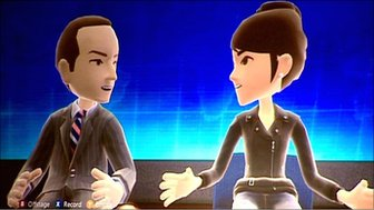 Rory Cellan Jones's avatar speaks to Microsoft executive Reena Kawal's avatar