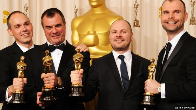 The Visual Effects team win the Oscar for Inception