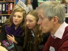 Students and mentor from Marden High School