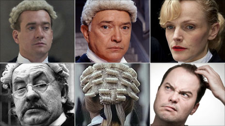 Matthew MacFayden in Criminal Justice; Martin Shaw as Judge John Deed; Maxine Peake in Silk; confused man; barrister; Leo McKern as Rumpole