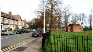 St Bartholomew's Road is opposite a park