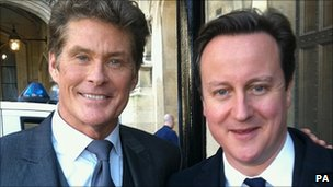David Hasselhoff and David Cameron
