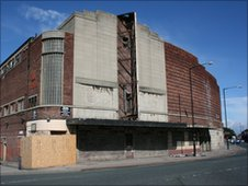 The former Odeon building in Hartlepool as it is today