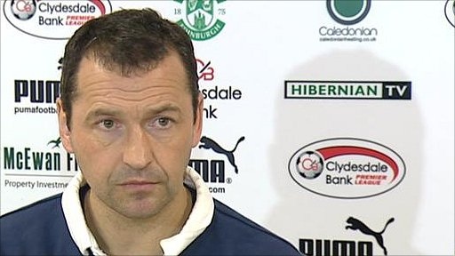 Hibernian manager Colin Calderwood