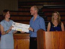 Leeds Rag cheque presentation.  pic: Leeds Rag