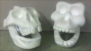 Foam skulls