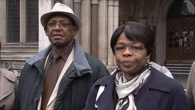 Owen and Eunice Johns outside the High Court