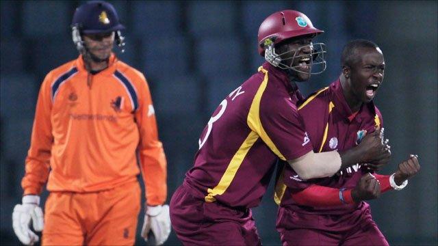 West Indies v Netherlands highlights