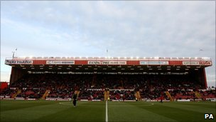 View of Dolman stand at Ashton Gate