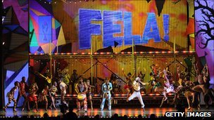 The cast of Fela! musical perform at the Tony Awards