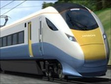 Artist's impression of one of the propsed new trains