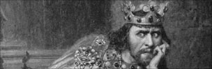 Drawing of King John in 1880
