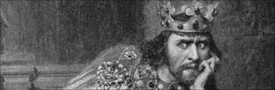 Drawing of King John in 1880