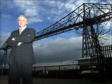 Ray Mallon at the transporter bridge
