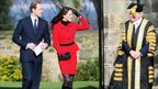 Prince William and Kate Middleton in St Andrews