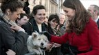 Kate Middleton pats dog