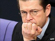Former German Defence Minister Karl-Theodor zu Guttenberg