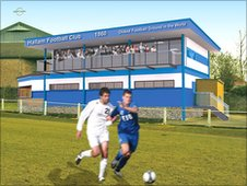 Artist impression of the new clubhouse at Hallam FC