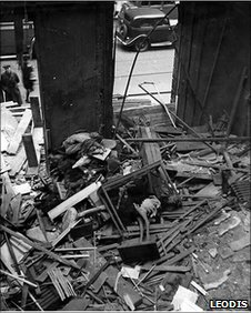 Bomb damage at the museum