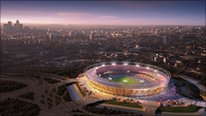 CGI of Olympic Park
