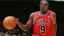 Luol Deng on the basketball court