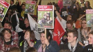Rally in Solihull against cuts to youth services