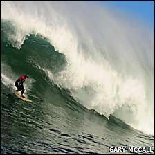 Lyndon surfing in Northern Ireland. Picture: Gary McCall