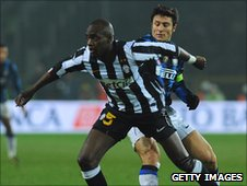 Mohamed Sissoko (in front) in action for Juventus