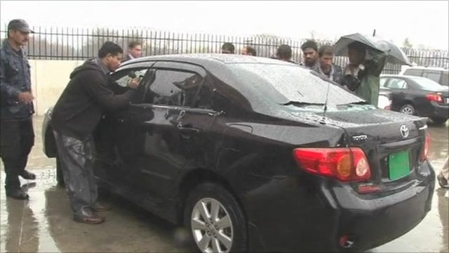 Mr Bhatti's car was sprayed with bullets in the attack