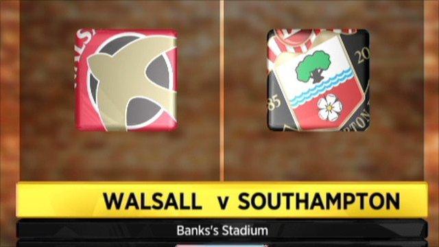 Walsall 1-0 Southampton